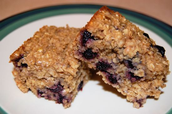 Baked Oatmeal Squares w/Dried Fruit