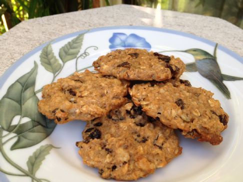 Angela's Healthy Oatmeal Raisin/Nut Cookies