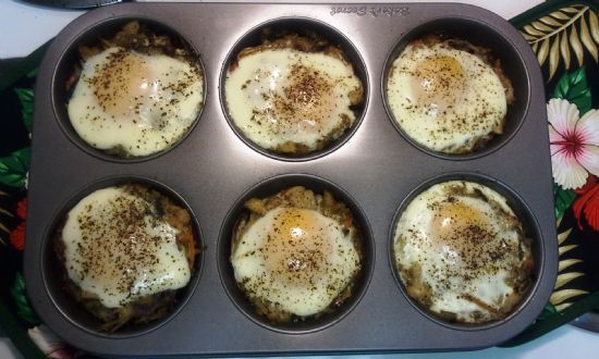 Veggie Ham Egg Cups Recipe Sparkrecipes