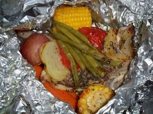 Campfire Chicken Packets Recipe Sparkrecipes