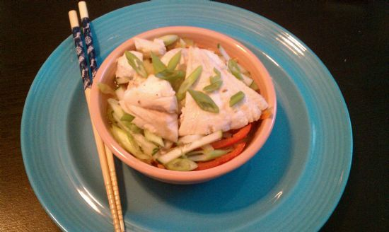 Korean Bibimbap with Haddock