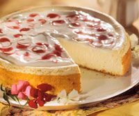 Low-Fat Berry Marble Cheesecake
