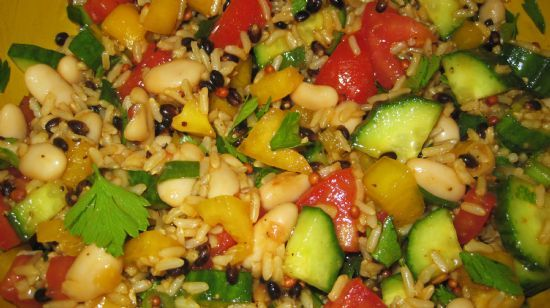 Rice, Beans and Veggie Salad