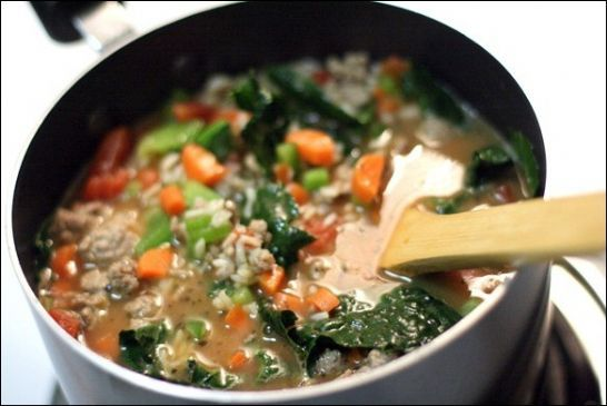 fANNEtastic Food's Chunky Turkey and Vegetable Soup