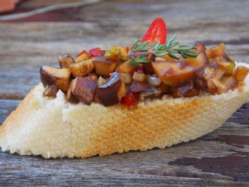 Mushroom And Balsamic Vinegar Bruschetta