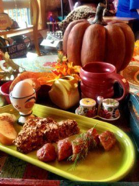 Pumpkin Date/Pecan Streusel Scones