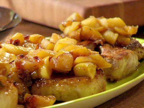 Pork Chops with Spiced Apple Sauce