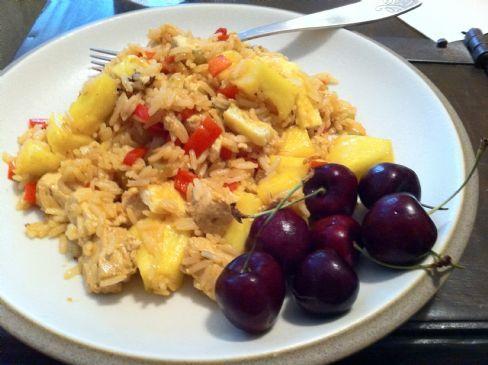 Basil Fried Rice with Tofu & Pineapple