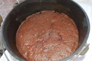 Dutch Oven German Chocolate Cake w/o frosting