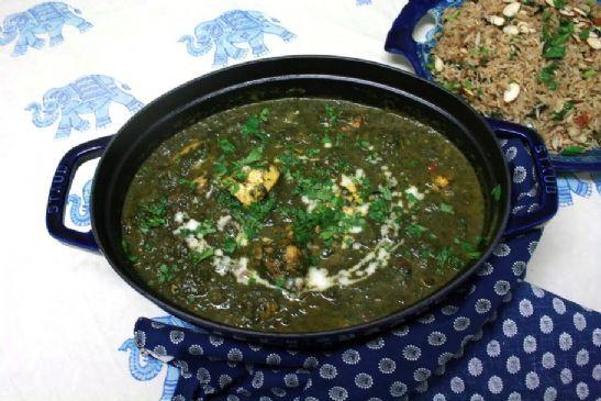 Chicken Saagwala (inspired by my favorite Indian restaurant)