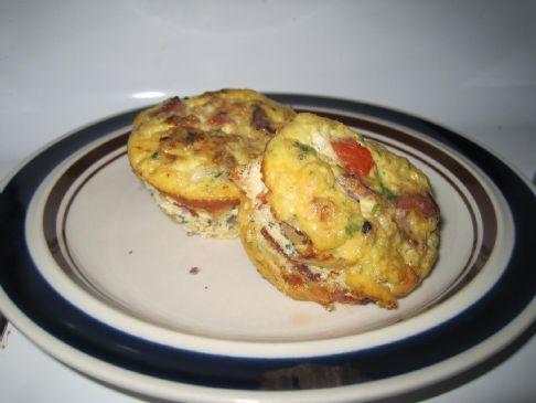 Mushroom Onion Tomato Mini Frittatas
