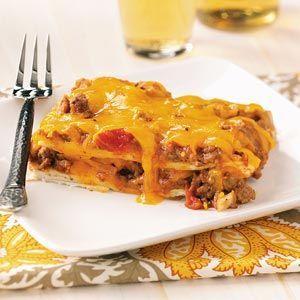 Ground Turkey Enchilada Lasagna