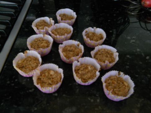 Ginger Oatmeal Bran Pear Muffins