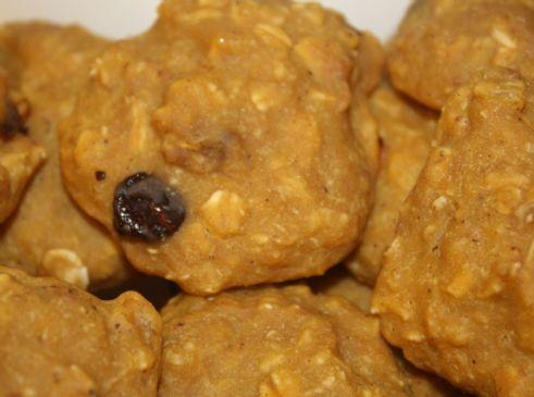 Pumpkin pie oatmeal applesauce cookies