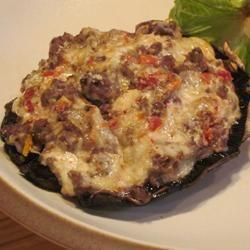 Seafood Stuffed Portabello Mushroom for 1