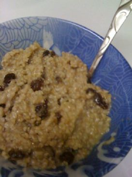Simple Steel-Cut Oats with Raisins