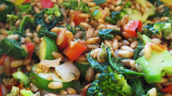 Mixed Vegetables with Spelt Berries