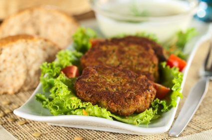 Lentil and Chickpea Burger