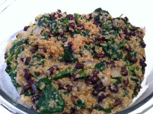 Quinoa, Spinach & Black Bean Casserole Recipe | SparkRecipes