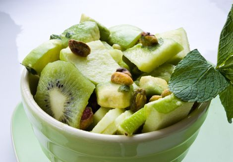 Minty Lime Avocado Kiwi Salad