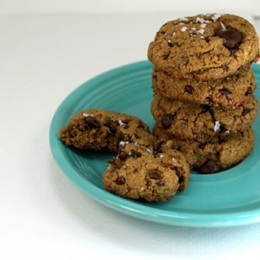 Healthier Chocolate Chip Peanut Butter Cookies