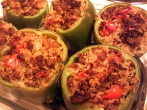 Turkey Curry Stuffed Peppers