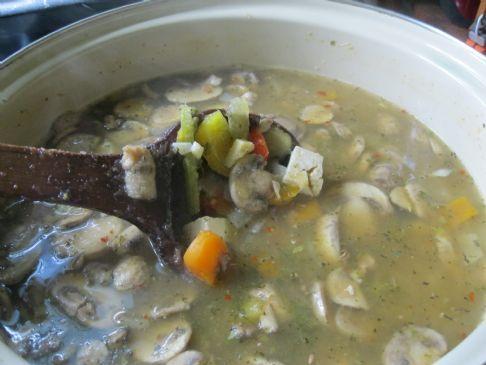 Asian Inspired Mushroom Vegetable Soup