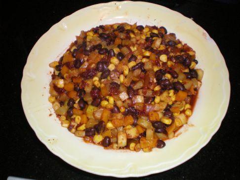 Spicy Zucchini, Corn & Black Bean Medley