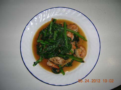 Stir Fry Choy Sum & Shrimps