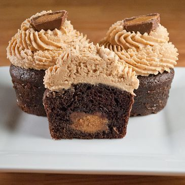 gourmet Reeses peanut butter cup cupcakes