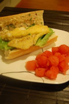 Zesty Fish Po' Boys