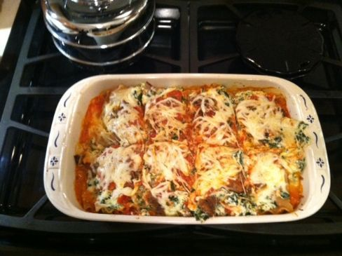 Healthy Spinach Sausage Lasagna