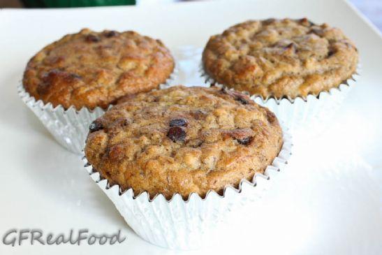 Paleo Banana Chocolate Chip Muffins (gluten, dairy and grain free)