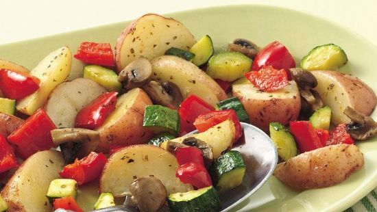 Roasted Vegetable Casserole with Panko and Parmesan Topping