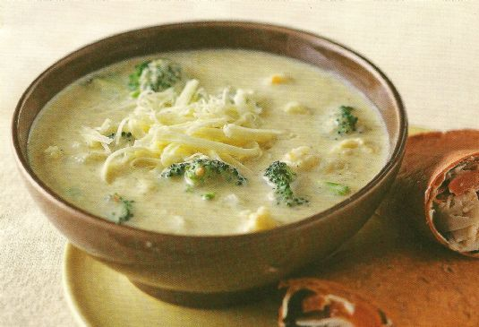 Cheese Soup with Broccoli & Cauliflower