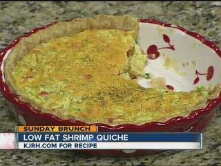 Low Fat Shrimp Quiche