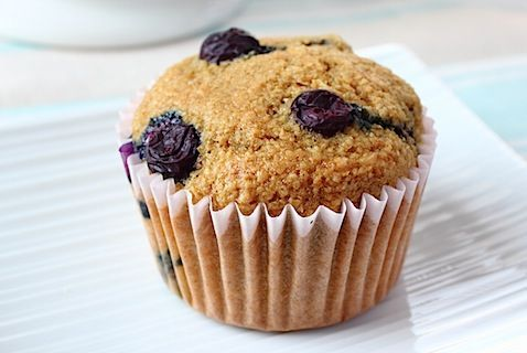Banana and Blueberry Bran Protein Muffins