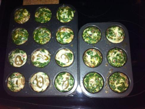 Egg whites Baked Veggie Muffins