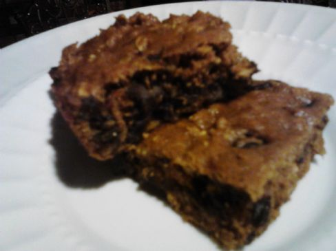 Pumpkin Oat Chocolate Chip Protein Squares