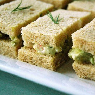 Avocado & Shrimp Tea Sandwiches