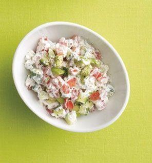 Creamy Cucumber, Tomato and Avocado Salad