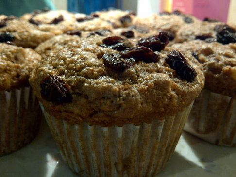 Low Fat Carrot Cake Muffins