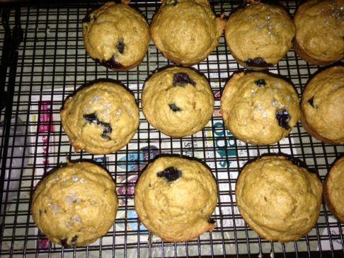 Whole Wheat Blueberry Banana Bread muffins