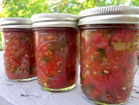 Fresh Garden Salsa-For Canning