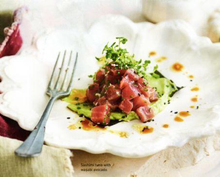 Sushimi Tuna with Wasabi Avocado