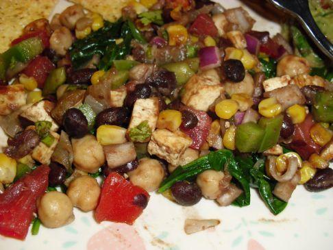 Black Bean, Corn and Tofu Salad