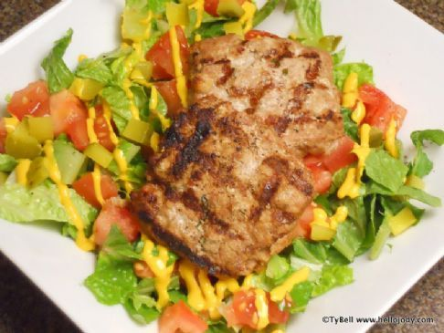 HCG Phase 2 - Veal Hamburger Salad