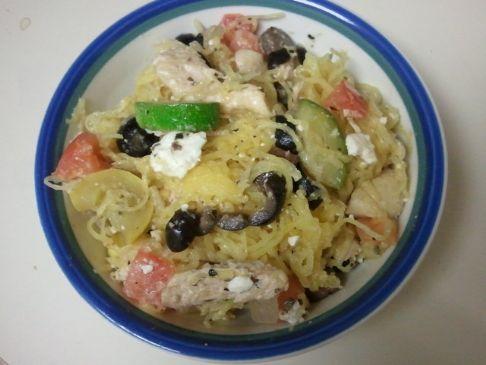 Spaghetti Squash W Chicken Recipe Sparkrecipes