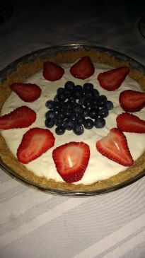 No Bake Strawberry and Blueberry Cheesecake