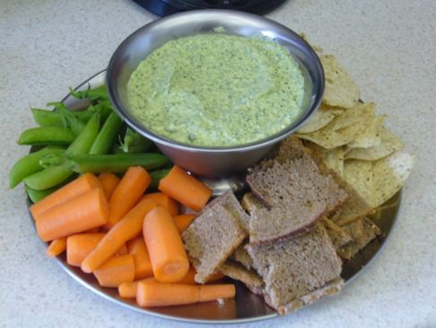 Caramelized Onion, Spinach and Artichoke Dip
